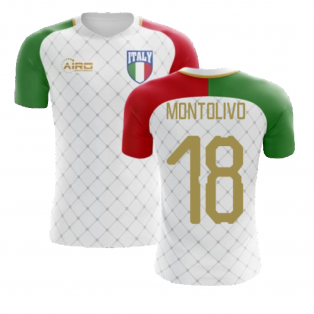2020-2021 Italy Away Concept Football Shirt (Montolivo 18) - Kids