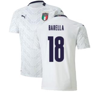 2020-2021 Italy Away Puma Football Shirt (Kids) (BARELLA 18)