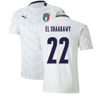 2020-2021 Italy Away Puma Football Shirt (Kids) (EL SHAARAWY 22)