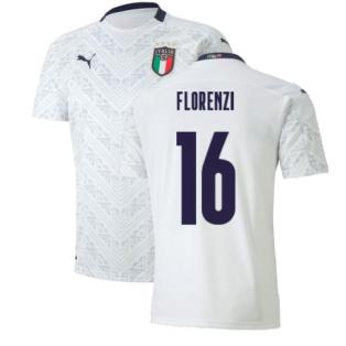 2020-2021 Italy Away Puma Football Shirt (Kids) (FLORENZI 16)