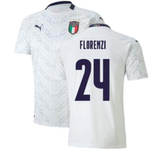 2020-2021 Italy Away Puma Football Shirt (Kids) (FLORENZI 24)