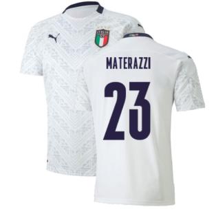 2020-2021 Italy Away Puma Football Shirt (Kids) (MATERAZZI 23)