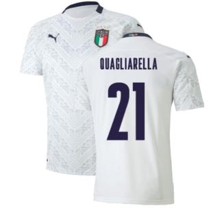 2020-2021 Italy Away Puma Football Shirt (Kids) (QUAGLIARELLA 21)
