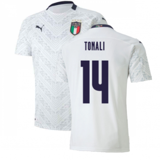 2020-2021 Italy Away Puma Football Shirt (Kids) (TONALI 14)