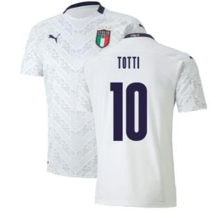 2020-2021 Italy Away Puma Football Shirt (Kids) (TOTTI 10)