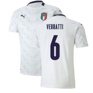 2020-2021 Italy Away Puma Football Shirt (Kids) (VERRATTI 6)