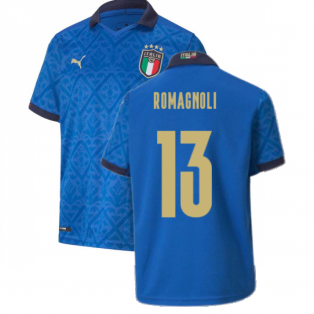 2020-2021 Italy Home Puma Football Shirt (Kids) (ROMAGNOLI 13)