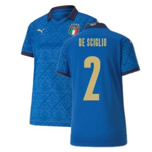 2020-2021 Italy Home Shirt - Womens (DE SCIGLIO 2)