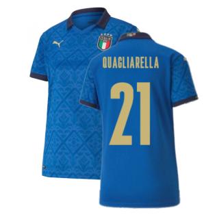 2020-2021 Italy Home Shirt - Womens (QUAGLIARELLA 21)