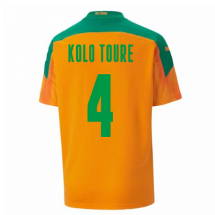 2020-2021 Ivory Coast Home Shirt (Kids) (KOLO TOURE 4)
