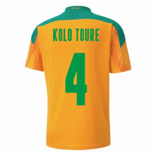 2020-2021 Ivory Coast Home Shirt (KOLO TOURE 4)