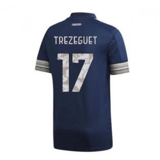 2020-2021 Juventus Adidas Away Football Shirt (TREZEGUET 17)