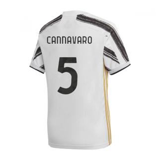 2020-2021 Juventus Adidas Home Football Shirt (CANNAVARO 5)