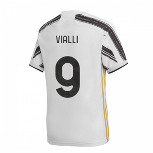 2020-2021 Juventus Adidas Home Shirt (Kids) (VIALLI 9)