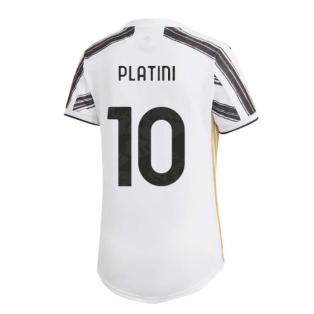 2020-2021 Juventus Adidas Home Womens Shirt (PLATINI 10)