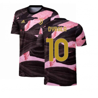 2020-2021 Juventus Pre-Match Training Shirt (Black) (DYBALA 10)