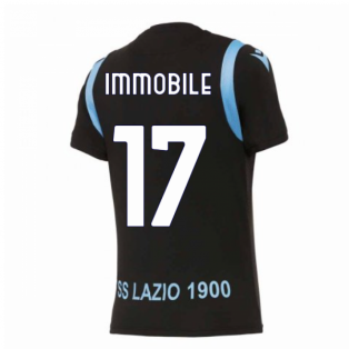 2020-2021 Lazio Pre-Match Training Shirt (Black) (Immobile 17)