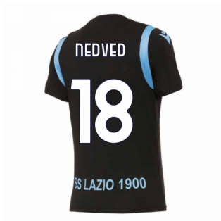 2020-2021 Lazio Pre-Match Training Shirt (Black) (NEDVED 18)