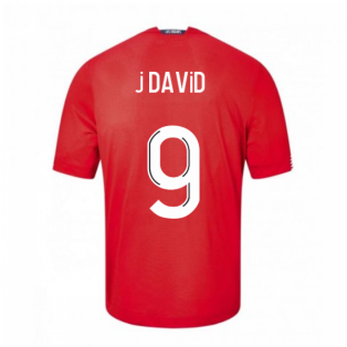 2020-2021 Lille Home Football Shirt (J DAVID 9)