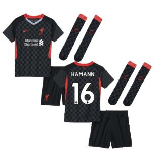 2020-2021 Liverpool 3rd Little Boys Mini Kit (HAMANN 16)