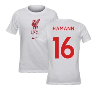 2020-2021 Liverpool Evergreen Crest Tee (White) - Kids (HAMANN 16)