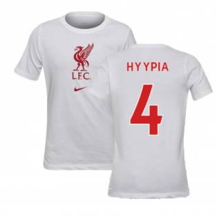 2020-2021 Liverpool Evergreen Crest Tee (White) - Kids (HYYPIA 4)