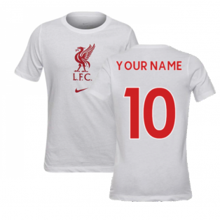 2020-2021 Liverpool Evergreen Crest Tee (White) - Kids (Your Name)