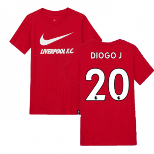 2020-2021 Liverpool Ground Tee (Red) - Kids (DIOGO J 20)