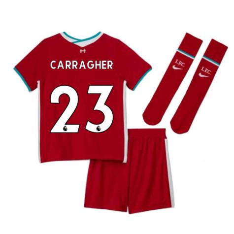 2020-2021 Liverpool Home Nike Little Boys Mini Kit (CARRAGHER 23)