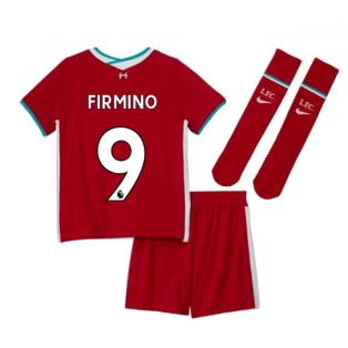 2020-2021 Liverpool Home Nike Little Boys Mini Kit (FIRMINO 9)