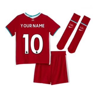 2020-2021 Liverpool Home Nike Little Boys Mini Kit (Your Name)