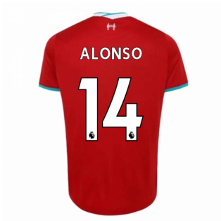 2020-2021 Liverpool Home Shirt (ALONSO 14)