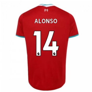2020-2021 Liverpool Home Shirt (Kids) (ALONSO 14)