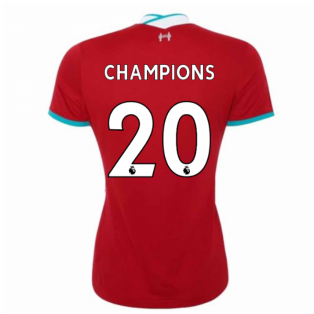 2020-2021 Liverpool Ladies Home Shirt (CHAMPIONS 20)