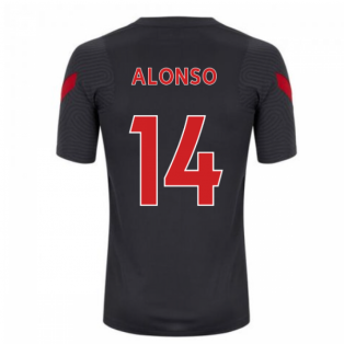 2020-2021 Liverpool Training Shirt (Anthracite) (ALONSO 14)