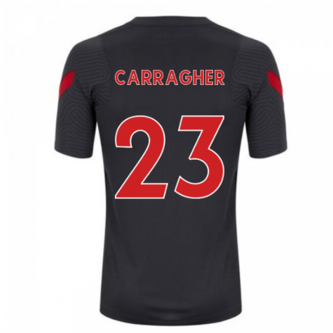 2020-2021 Liverpool Training Shirt (Anthracite) (CARRAGHER 23)