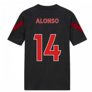 2020-2021 Liverpool Training Shirt (Anthracite) - Kids (ALONSO 14)