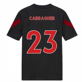 2020-2021 Liverpool Training Shirt (Anthracite) - Kids (CARRAGHER 23)