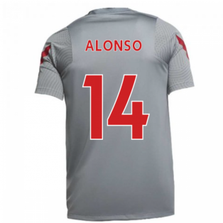 2020-2021 Liverpool Training Shirt (Grey) (ALONSO 14)