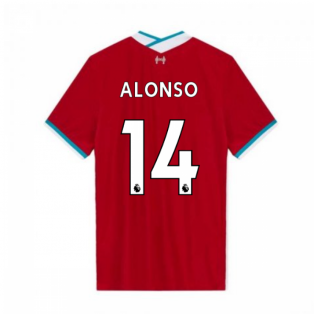 2020-2021 Liverpool Vapor Home Shirt (ALONSO 14)