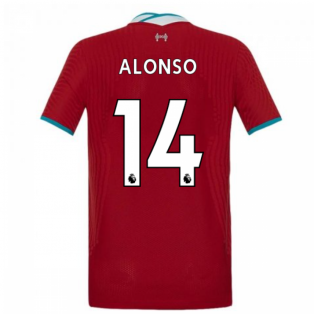 2020-2021 Liverpool Vapor Home Shirt (Kids) (ALONSO 14)