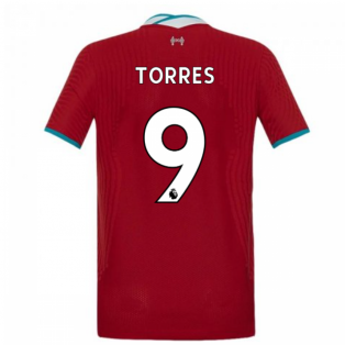 2020-2021 Liverpool Vapor Home Shirt (Kids) (TORRES 9)