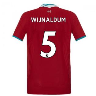 2020-2021 Liverpool Vapor Home Shirt (Kids) (WIJNALDUM 5)