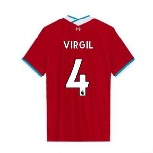 2020-2021 Liverpool Vapor Home Shirt (VIRGIL 4)