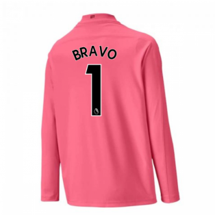 2020-2021 Man City Away Goalkeeper Shirt (Pink) - Kids (BRAVO 1)