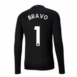 2020-2021 Man City Home Goalkeeper Shirt (Black) (BRAVO 1)