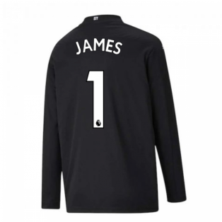 2020-2021 Man City Home Goalkeeper Shirt (Black) - Kids (JAMES 1)