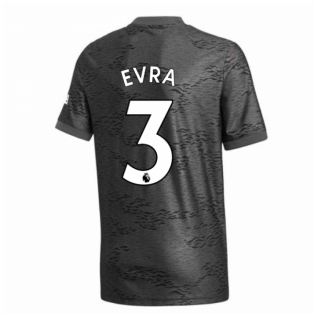 2020-2021 Man Utd Adidas Away Football Shirt (Kids) (EVRA 3)