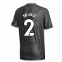 2020-2021 Man Utd Adidas Away Football Shirt (Kids) (NEVILLE 2)