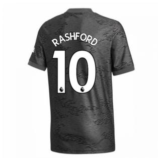 2020-2021 Man Utd Adidas Away Football Shirt (Kids) (RASHFORD 10)